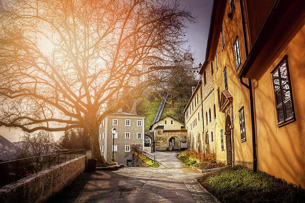 Wall Art - Photograph - In The Shadow Of Salzburg Castle  by Carol Japp