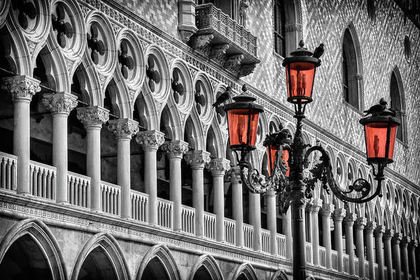 Light Photograph - In The Shadow Of The Doges Palace Venice by Carol Japp