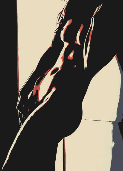 Nipples Drawing - In The Shadows - Beauty Of Womans Body by Casemiro