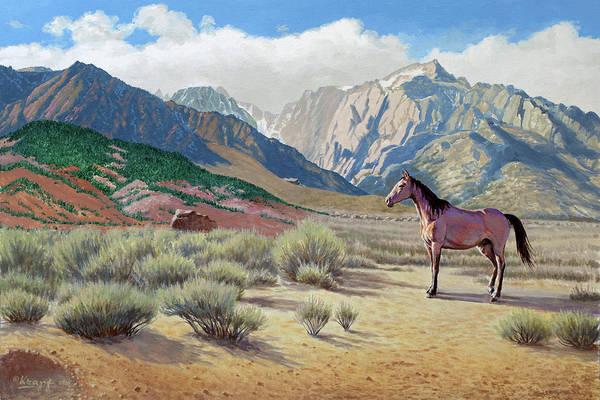 Eastern Wall Art - Painting - In The Sierras by Paul Krapf