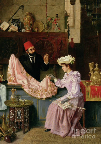 Wall Art - Painting - In The Souk, 1891 by Moritz Stifter
