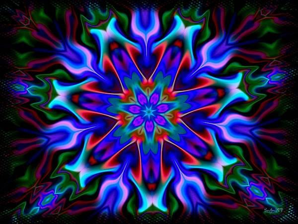 Neon Blue Digital Art - In The Spirit Of Things- by Robert Orinski