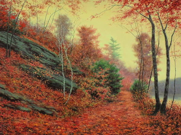Wall Art - Painting - In The Still Of Autumn by Barry DeBaun