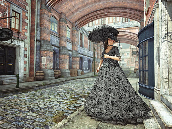Digital Art - In The Streets Of Old London by Jutta Maria Pusl
