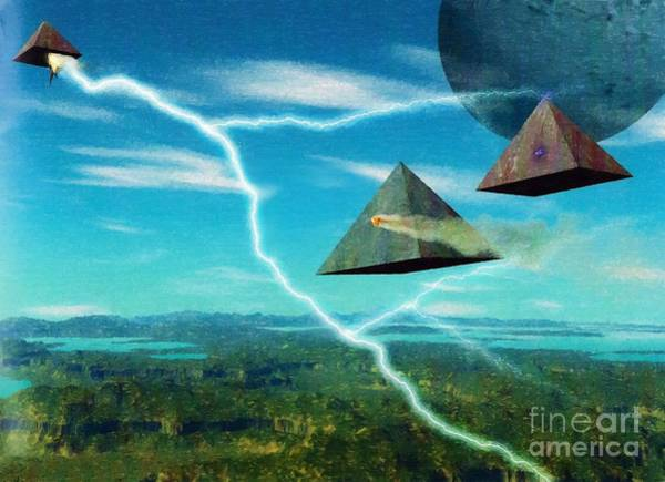 Digital Art - In The Time Of The Pyramids by Abbie Shores