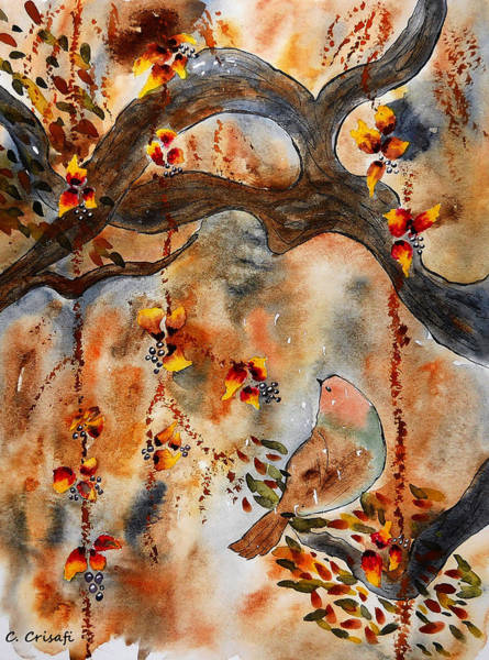 Painting - In The Treetops by Carol Crisafi