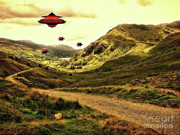 Scifi Digital Art - In The Valley By Raphael Terra by Raphael Terra