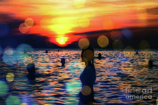 Digital Art - In The Water by Digital Art Cafe