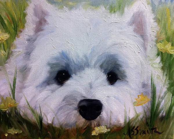 West Highland Painting - In The Weeds by Mary Sparrow