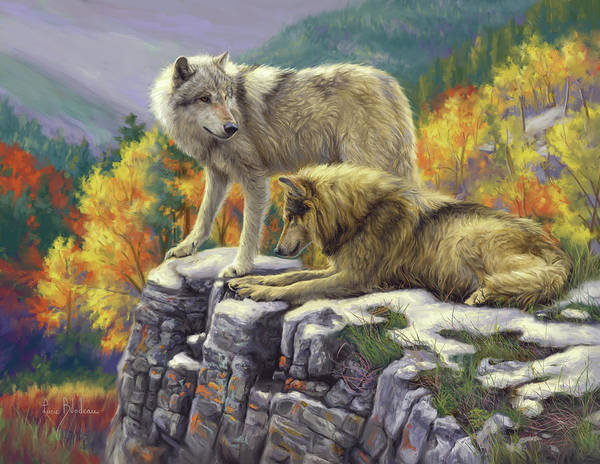 Canine Painting - In The Wild by Lucie Bilodeau