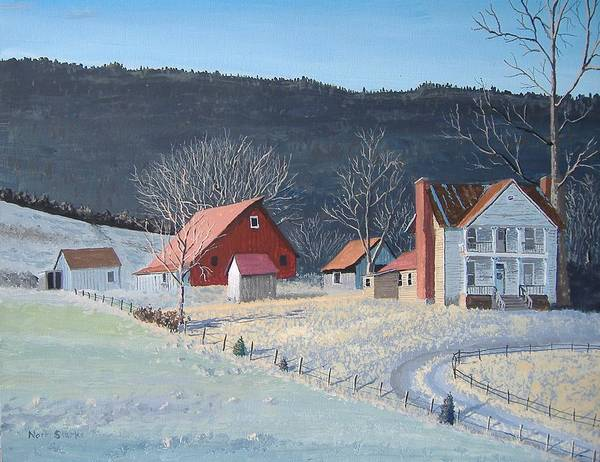 Barn Snow Painting - In The Winter Of My Life by Norm Starks