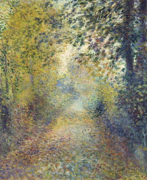 Renoir Wall Art - Painting - In The Woods by Auguste Renoir
