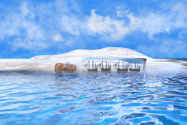 Sea View Digital Art - In Their Own Minds--serenity Point by Betsy Knapp