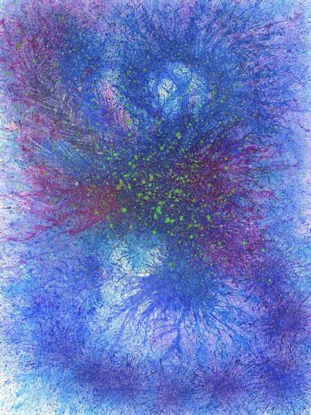 Brain Cell Painting - In Touch With The Divine #589 by Rainbow Artist Orlando L