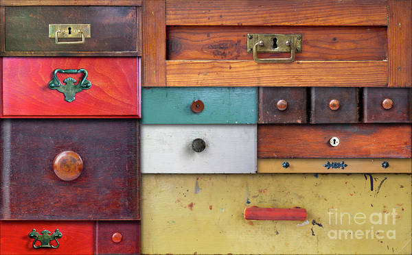 Chest Of Drawers Photograph - In Utter Secrecy - Various Drawers by Michal Boubin
