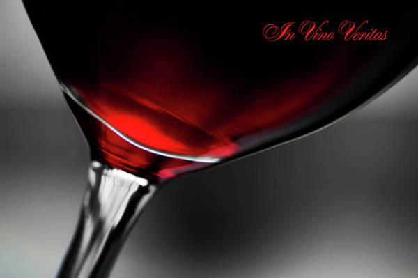 Passionate Photograph - In Vino Veritas by Jenny Rainbow