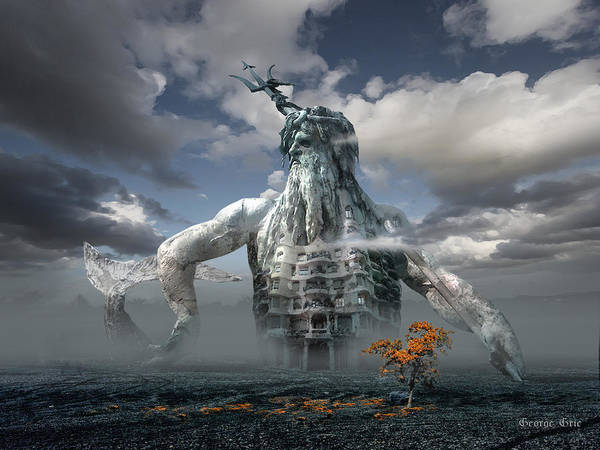 Front Digital Art - Inadvertent Metamorphosis Or King Of My Castle by George Grie