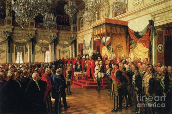 Inauguration Painting - Inauguration by Anton von Werner