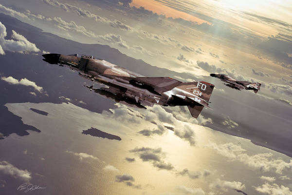 F-4 Wall Art - Digital Art - Inbound Wolf Pack by Peter Chilelli