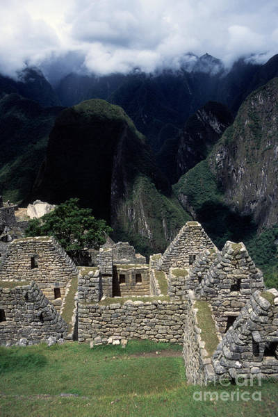 Photograph - Inca Houses At Machu Picchu And Urubamba Canyon by James Brunker