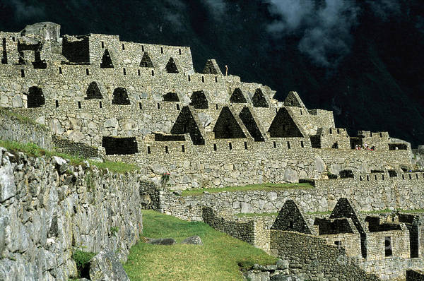 Photograph - Inca Houses At Machu Picchu by James Brunker