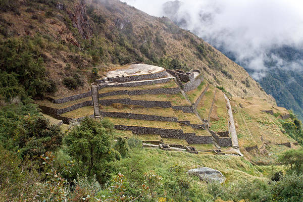 Inca Ruins And Terraces Art Print