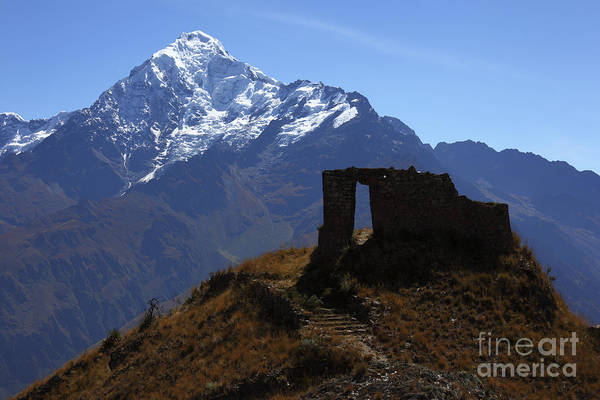 Photograph - Inca Temple And Mt Veronica by James Brunker