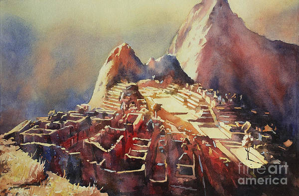 World Heritage Site Painting - Incan City- Peru by Ryan Fox