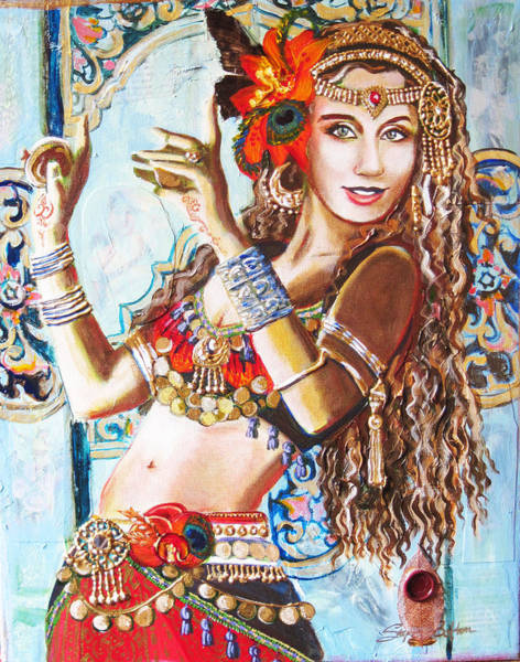 Belly Dancing Painting - Incense by Stephanie Bolton