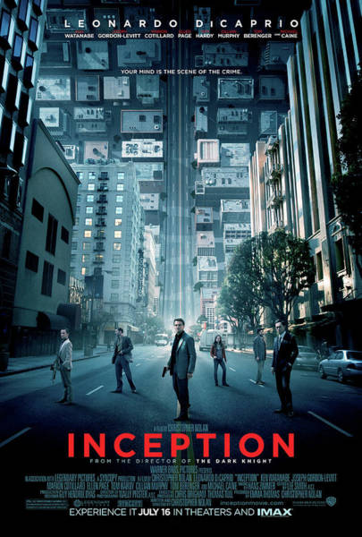 Wall Art - Digital Art - Inception Movie Poster by Geek N Rock