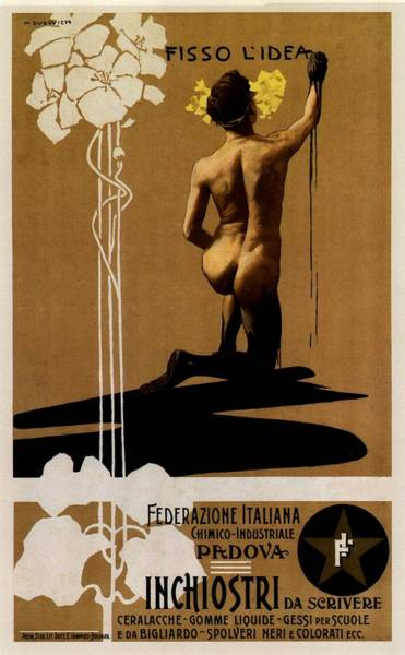 Wall Art - Mixed Media - Inchiostri Da Scrivere - Padova, Italy - Vintage Advertising Poster by Studio Grafiikka