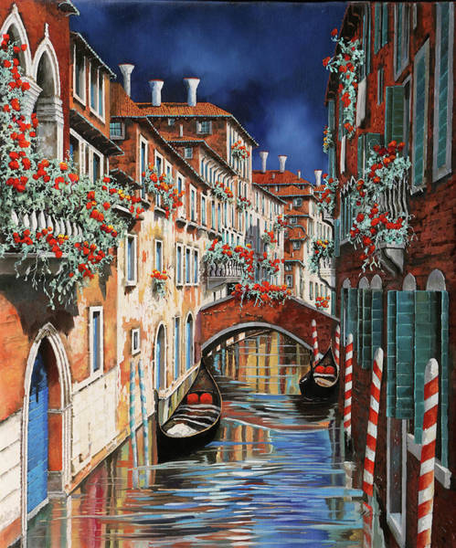 Wall Art - Painting - inchiostro a Venezia by Guido Borelli