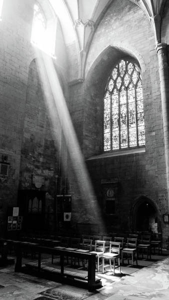Photograph - Incoming Light Through The Stained-glass Window by Jacek Wojnarowski