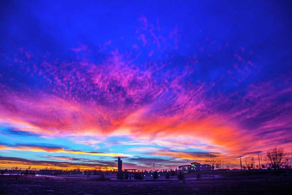 Photograph - Incredible Nebraska December Sunset 008 by NebraskaSC