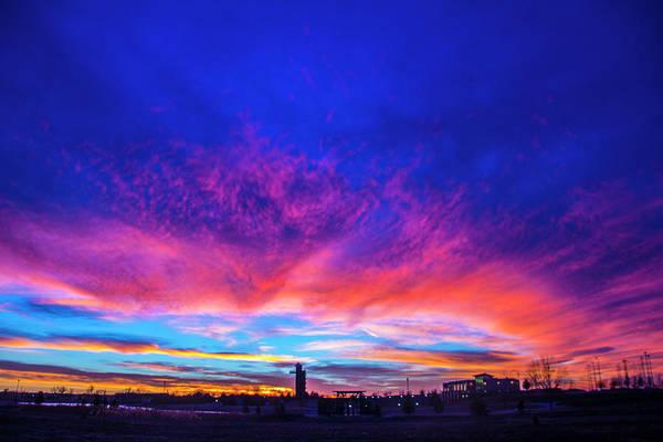 Photograph - Incredible Nebraska December Sunset 010 by NebraskaSC
