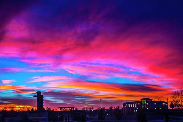 Photograph - Incredible Nebraska December Sunset 018 by NebraskaSC