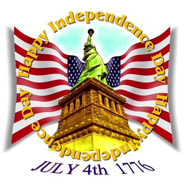 Mixed Media - Independence Day July 4th 1776 Design by Peter Potter