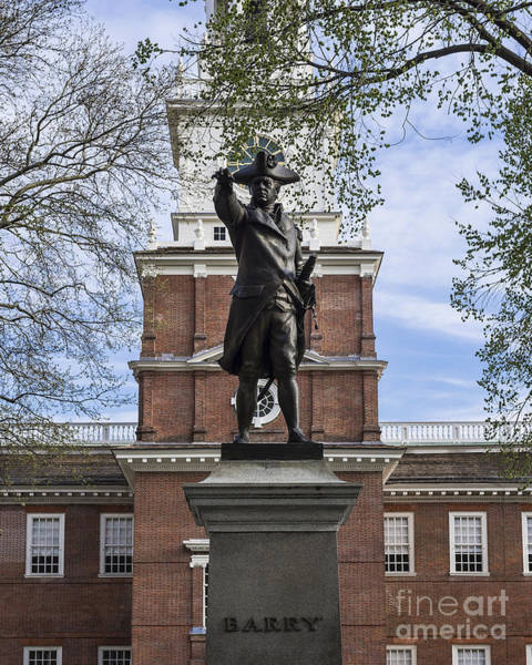 Wall Art - Photograph - Independence Hall And Commodore Barry by John Greim
