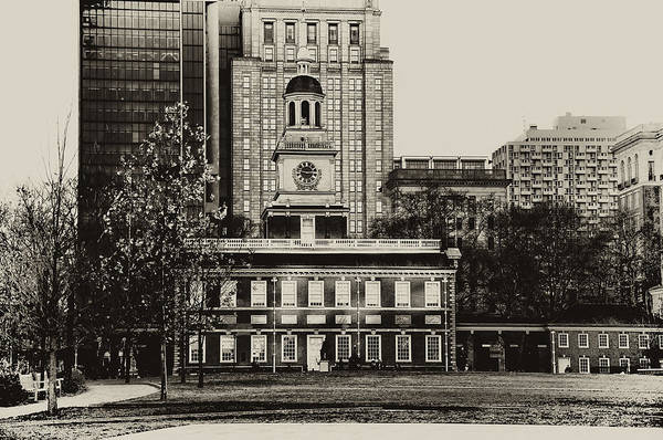 Digital Art - Independence Hall by Bill Cannon