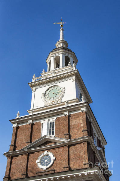 Wall Art - Photograph - Independence Hall Clock Tower by John Greim