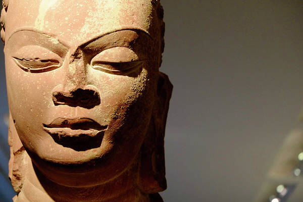 Photograph - India Buddha Head by August Timmermans