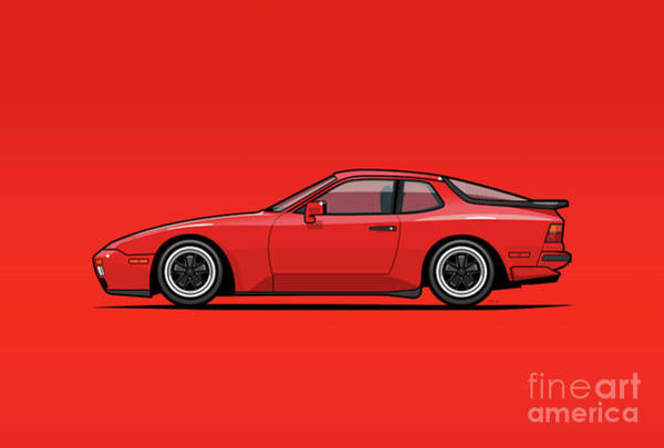 Wall Art - Digital Art - India Red 1986 P 944 951 Turbo by Monkey Crisis On Mars