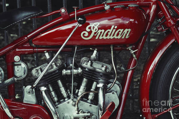 Photograph - Indian 101 Scout by Tim Gainey