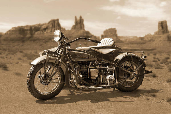 Wall Art - Photograph - Indian 4 Sidecar by Mike McGlothlen