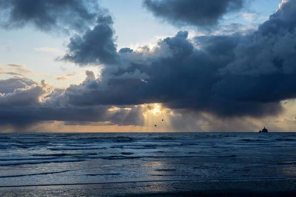 Photograph - Indian Beach Sunbeams by Robert Potts