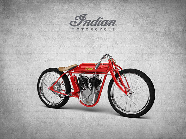 Wall Art - Digital Art - Indian Board Track Racer Motorcycle 1920 by Aged Pixel