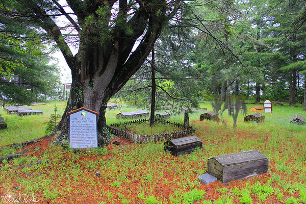 Indian Burial Ground Photograph - Indian Burial Ground, Michigan by Michael Rucker