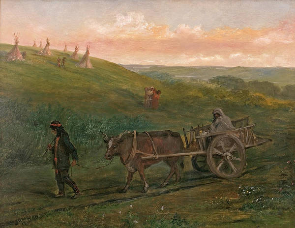 Indian Camp Painting - Indian Camp On Brandon Hills by Alfred Boisseau