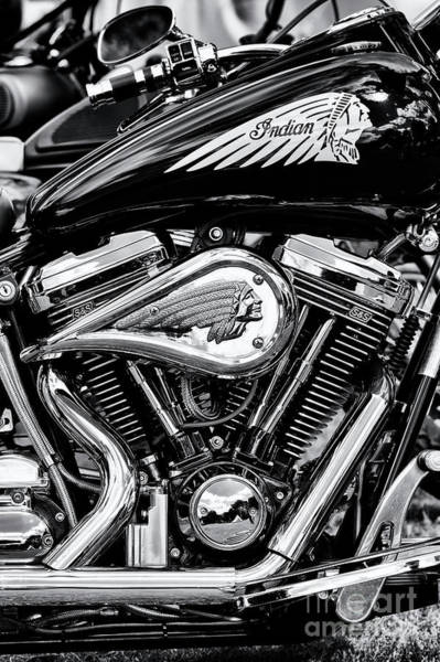 Centennial Photograph - Indian Chief Centennial Motorcycle by Tim Gainey