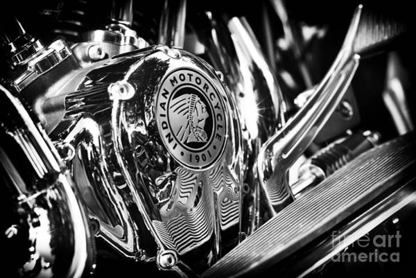 Photograph - Indian Chief Engine Casing by Tim Gainey